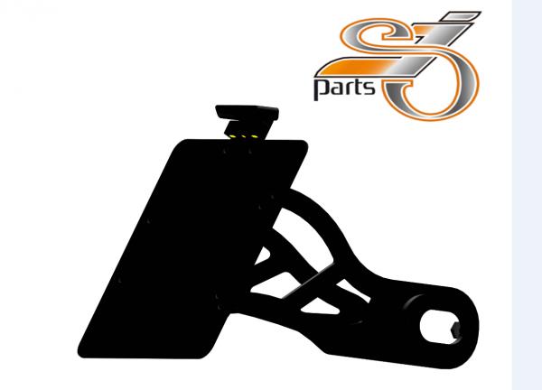 Kennzeichenhalter seitlich Harley Davidson Softail, Bj. ab 2018- mit Komplett-Beleuchtung