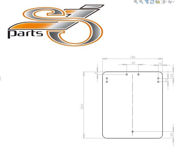 Kennzeichenplatte Universal V4 Grundplatte Aluminium 180x200