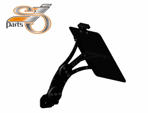 Kennzeichenhalter seitlich Moto Guzzi V7, 750, einstellbar, Bj. 07-16 mit Beleuchtung