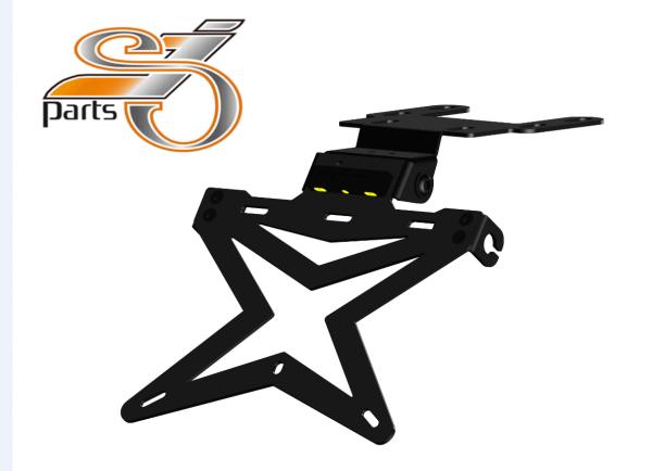 Kennzeichenhalter Universal V1 Motorrad Umbau Streetfighter mit Beleuchtung