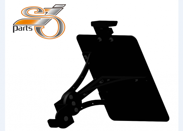 Kennzeichenhalter seitlich Moto Guzzi V9 Bobber Roamer, einstellbar mit Komplett-Beleuchtung