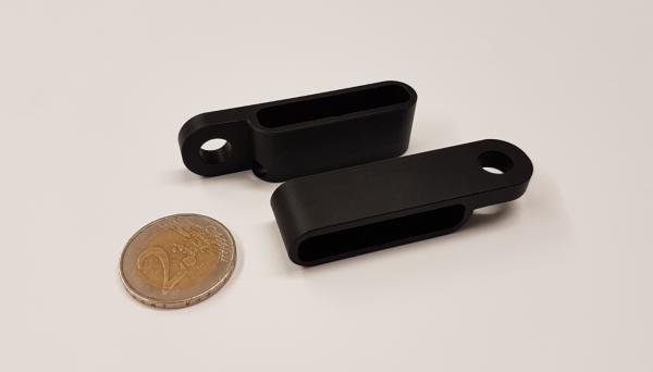LED Mini - Blinker Gehäuse für Stripe ST-01238, schwarz eloxiert