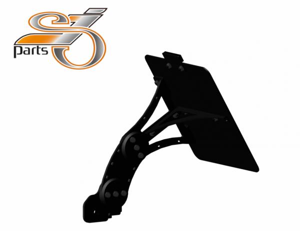 Kennzeichenhalter seitlich Moto Guzzi V7, 750, einstellbar, Bj. 07-16
