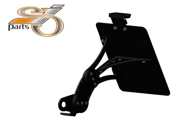 Kennzeichenhalter seitlich Moto Guzzi Le Mans 3, einstellbar mit Komplett-Beleuchtung