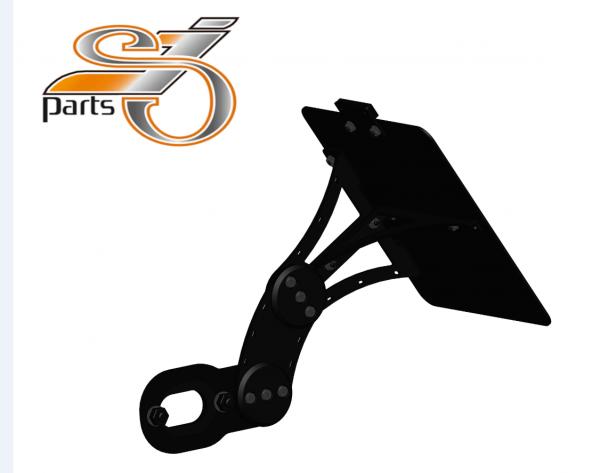 Kennzeichenhalter seitlich Harley Davidson Softail, einstellbar, Bj. ab 2018-
