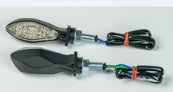 JS-Parts Led-Mini Blinker schwarz matt