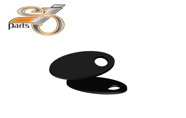 Blinker Montageplatten Harley Davidson Softail, Dyna Sportster V2A schwarz