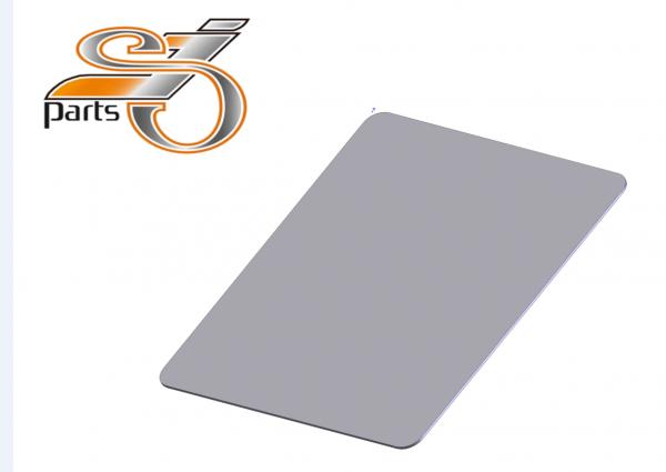 Kennzeichenplatte DE 180x200 Edelstahl Grundplatte