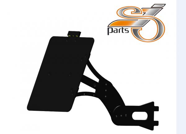 Kennzeichenhalter seitlich Harley Davidson Softail, einstellbar, Bj. 84-07